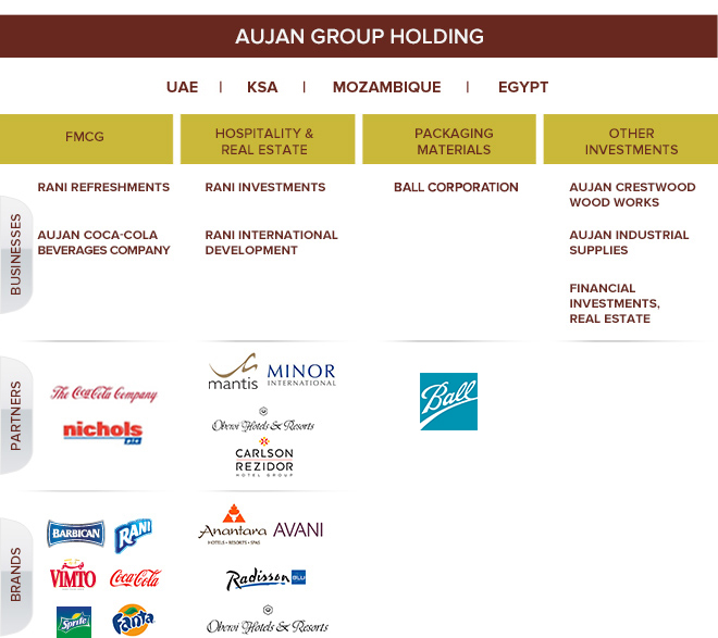 Group Structure - Aujan Group Holding